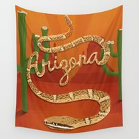 arizona Wall Tapestries featuring Arizona by Santiago Uceda