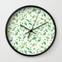Tea leaves pattern Abstract Wall Clock