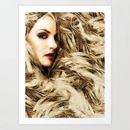 Mysterious Blonde Art Print