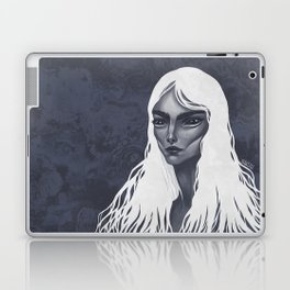 White Haired Laptop & iPad Skin
