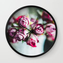 Dried Roses Wall Clock