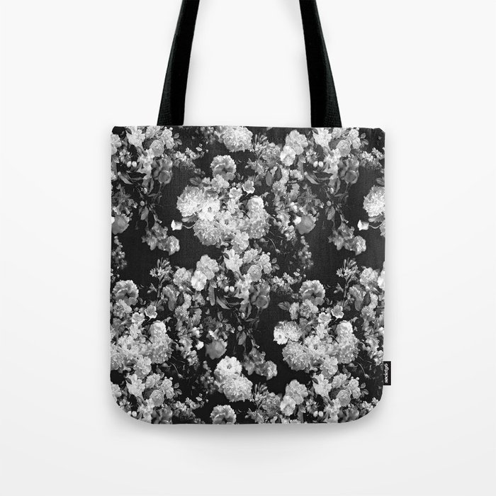 Through The Flowers // Floral Collage Tote Bag