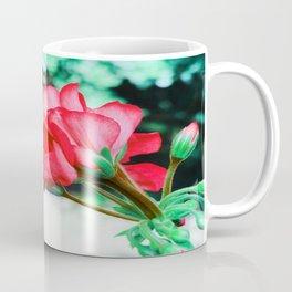 Red FlowERS Green Bokeh Coffee Mug