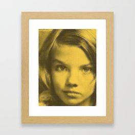 Face of raster Framed Art Print