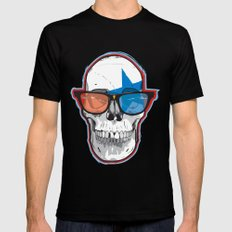 The 3D Star Punk Black Mens Fitted Tee MEDIUM