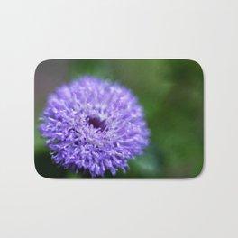 Brazilian Bachelor's Blue Button Flower Bath Mat