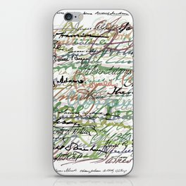 All The Presidents Signatures Green Sepia iPhone Skin