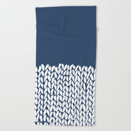 Half Knit Navy Beach Towel