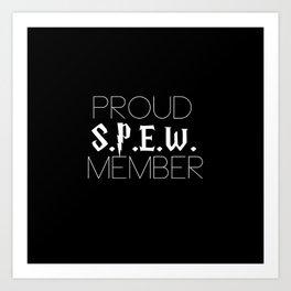 proud s.p.e.w. member // black Art Print