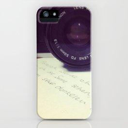 die Filmkamera iPhone Case