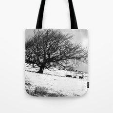 Deer in the Snow Tote Bag