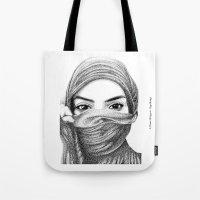 kiki Tote Bags featuring Kiki by BenHucke
