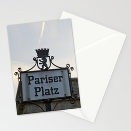Brandenburger Tor at Pariser Platz Berlin Stationery Cards