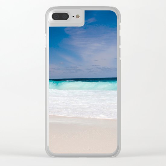 Mexico Waves Clear iPhone Case