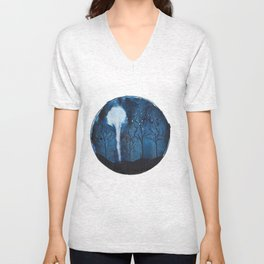Moon light  Unisex V-Neck