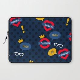 Crazy London Pattern Laptop Sleeve