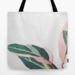 Pink Leaves II Tote Bag