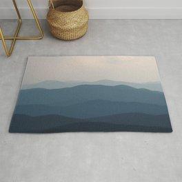 Watercolor Landscape, Niwot Ridge 01, Colorado Rug