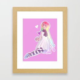 Candy artist Framed Art Print