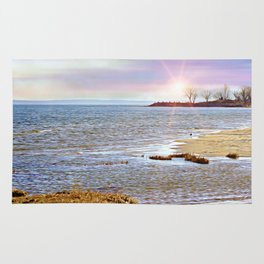 Sunset At The Beach - Tod's Point Rug