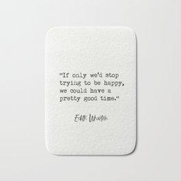 Either Wharton quote Bath Mat