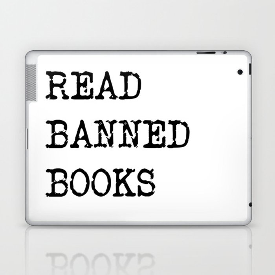 Read Banned Books Laptop & iPad Skin