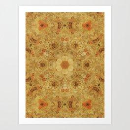 Indi Texture Warm Art Print