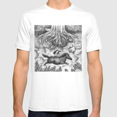 Sisters MEDIUM White Mens Fitted Tee