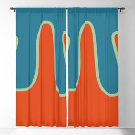 Abtract Burning Retro Wave Blackout Curtain