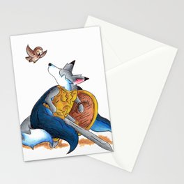 Warrior's Owl Stationery Cards