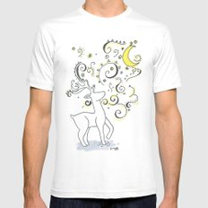 Deer Design MEDIUM Mens Fitted Tee White