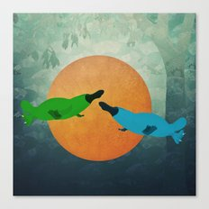 Platypus Love Canvas Print