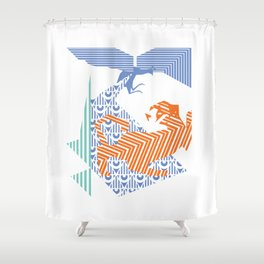 fray (colour) Shower Curtain