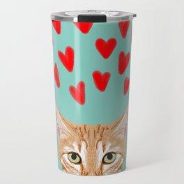 Mackenzie - Orange Tabby Cute Valentines Day Kitten Girly Retro Cat Art cell phone Travel Mug