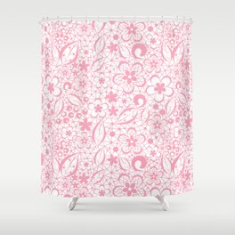 Pink , fishnet , lace Shower Curtain