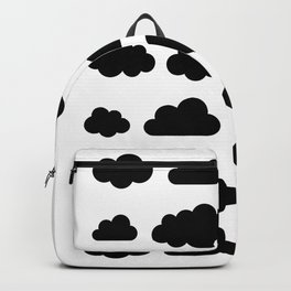 Black clouds - Black and white art Backpack