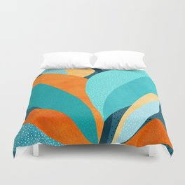 Abstract Tropical Foliage Duvet Cover