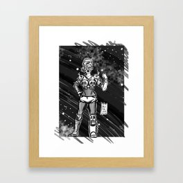 365 Space Wrestlers: Doom Warrior Framed Art Print