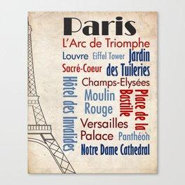 Travel - Paris Canvas Print