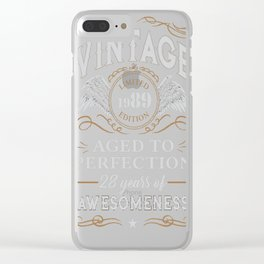 28th Birthday Gift Limited 1989 Edition Clear iPhone Case