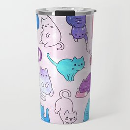Space Cats Pattern Travel Mug