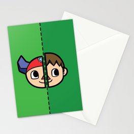 Old & New Animal Crossing Villager Comparison Stationery Cards