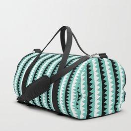 Geometric Pattern 190 (teal zigzag) Duffle Bag