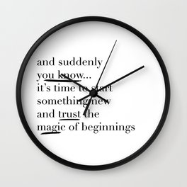 Trust the Magic Wall Clock