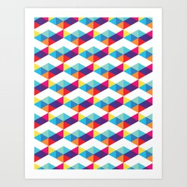 modern rainbow party Art Print