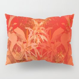 Beautiful red foliages - illustration of garden Pillow Sham