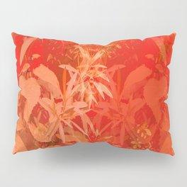 Beautiful red foliages - illustration of garden Pillow Sham