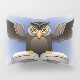 Brown Owl fly with the book Pillow Sham