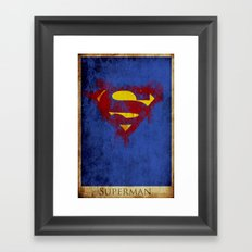 Super Logo Framed Art Print