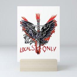 Raven tattoo locals Mini Art Print